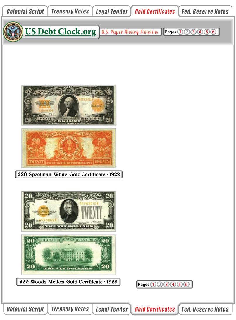 Us paper money 20 dollar gold certificates 1922 1928 us paper money 20 dollar gold certificates 1922 1928 1betcityfo Gallery